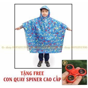 Áo mưa choàng trẻ em cao cấp + Tặng FREE con quay cao cấp