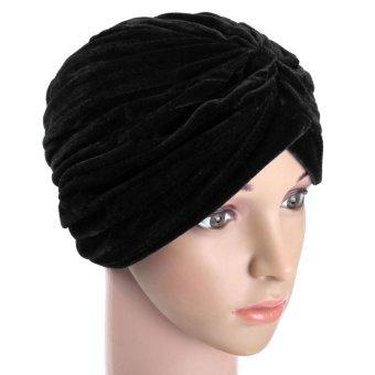 Women Lady Soft Velvet Indian Turban Caps Head Hatd Wrap Band Hair Cover Headban - Intl
