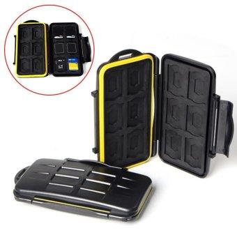 Moonar Multifunctional Water-resistant Shockproof Storage Memory Card Case - intl