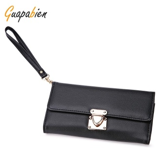 Guapabien Stylish Multiple Layers Insert Lock Women Clutch Wallet - intl