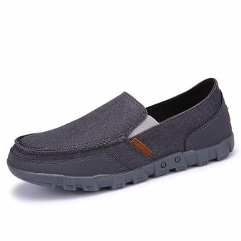 Canvas Shoes Men 2017 Lazy Shoes Canvas Men Slip on Shoes - intl