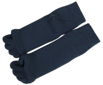 NiceEshop Lady Comfy Toes Foot Alignment Feet Socks (L,1 Pair,Dark Blue) - intl