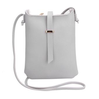 2016 Women New PU Leather Litchi Pattern Shoulder Bag Crossbody Bag - intl