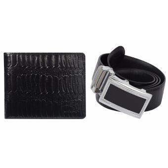 Bộ ví da và thắt lưng nam da thật vân đà điểu LAKA CB06