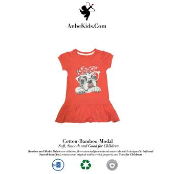 Baby Cute Bulldog Carrot Dress 2y