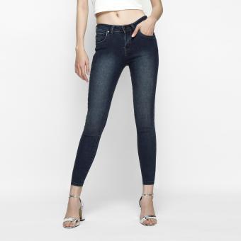 Quần Jeans Skinny Trơn Cạp Vừa AAA Jeans