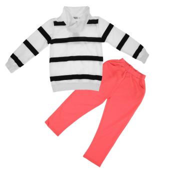 2pcs Kids Clothes Set Striped T-shirt + Pants