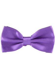 Fancyqube Tuxedo Marriage Butterfly Cravat New Men Bow Tie Purple - Intl