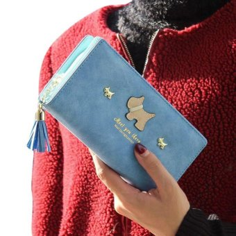 Women Long Purse Grind Arenaceous Leather Wallet Card Holder Handbag Bags - intl