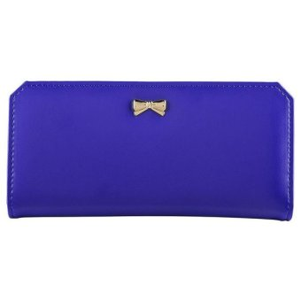 XH Hot Long Card Holder Case Fashion Lady Leather Purse for women(Blue) - intl