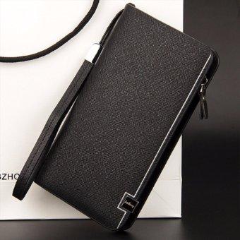Bóp cầm tay nữ New4all BLD82 thời trang (Ghi đen) - Bóp ví cầm tay sang trọng