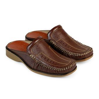 Giày Sabo Nam Da Bò Hùng Cường HC1601 (Nâu)