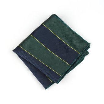 Men Pocket Square Hankerchief Korean Silk Paisley Dot Floral Hanky Wedding Party Style37 - Intl