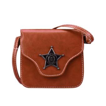 Women Mini Shoulder Messenger Bag Handbag Brown