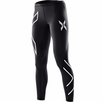 Fancyqube Men Compression Tight Long Pants Joggers Trousers Slim Fitness Pant Sliver - intl