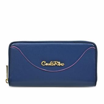Ví nữ khóa dây kéo Carlo Rino 0303255-001-13 (xanh dương)