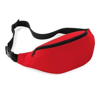 Unisex Bag Travel Handy Hiking Sport Fanny Pack Waist Belt Zip Pouch Red - intl