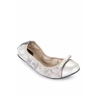 Giày Búp Bê Butterfly Twists Cara (Bt01012-212) Nude Họa Tiết Da Rắn