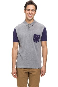 Bellfield Men's Pique Polo Grey