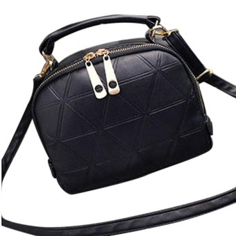 2017 Fashion luxe Handbag Shoulder Bag Lady Tote Purse PU Leather Women Messenger Bag (Black) - intl