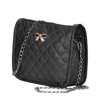 Womens Handbag Shoulder Bags Tote Purse Leather Messenger Hobo Bag Black - Intl