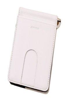 HKS Luxury Retro Mini Neutral Fold Leather Wallet (White) - intl