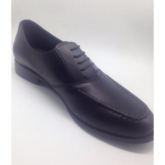 Giày tây da nam cột dây Mattino (Đen)