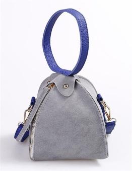 Cyber Scrub Triangular Zipper Small Shoulder Bags ( Grey ) - intl
