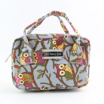 Women Fashion Handbag Owl Pattern Shoulder Bag Large Tote Ladies Purse - intl