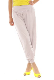 Lalang Harem Pants Light Grey - Intl
