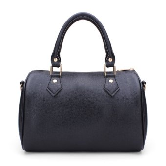 Fashion Women Ladies Leather Handbag Shoulder Messenger Satchel Purse Tote Bags Black - intl