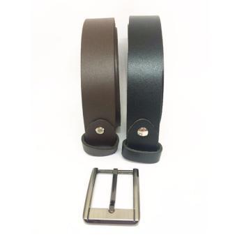 Bộ đôi dây lưng nam không đầu + Tặng mặt khóa DKDMK05