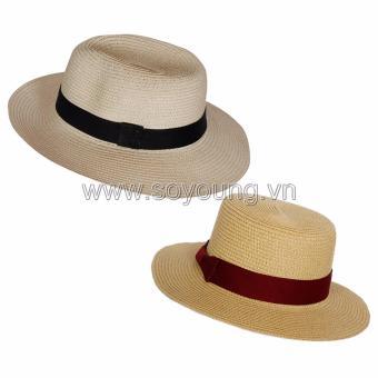 Bộ 2 Mũ Cói Đi Biển Nam Nữ SoYoung SYCB HAT 043 NU PS WM HAT 044 NU