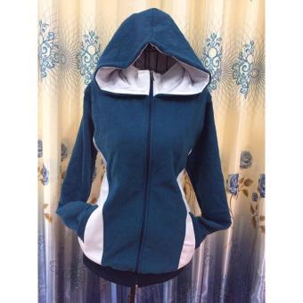 áo nỉ nữ - áo khoác hoodie nữ - áo nỉ nữ đẹp - áo khoác nỉ nữ -new(Xanh)