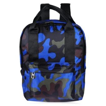 Graffiti Print Oxford Handbag Tote Portable Bag Travel Shopping School Backpack(Blue) - intl