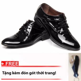Giày lười nam công sở buộc dây