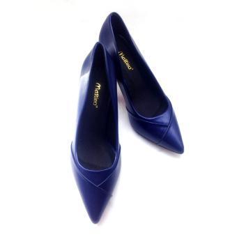 Giày cao gót mũi nhọn Mattino ( Xanh Navy )