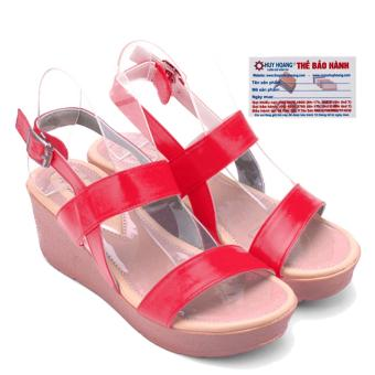 HL7043 - Giày nữ Huy Hoàng đế xuồng màu đỏ