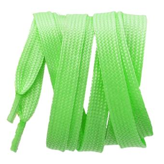 1 Pair of Luminous Glow in the Dark Shoelaces Flat Shoelaces Sports Shoes Boots Sneakers Skates Shoe Lace String Shoelace Green - intl