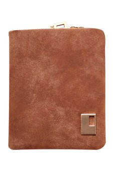 Bluelans Women Matte Faux Leather Zipper Hasp Wallet Purse Card Handbag Coffee (Intl)
