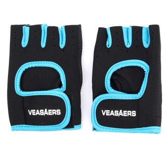 Teamwin Blue Breathable Cycling Bike Bicycle Sports GEL Pad Half Finger Glove Non-slip M (Intl) - Intl