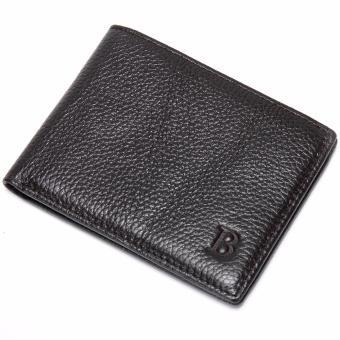 Bóp da nam chữ B BD192 (màu đen)