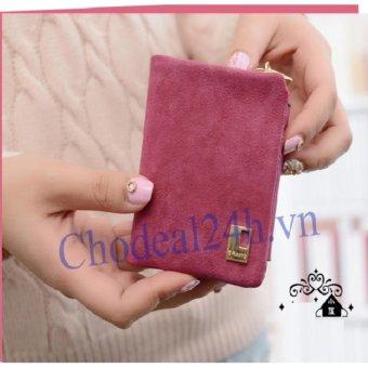 Bóp cầm tay nhỏ cho nữ VN02 (hồng đậm)
