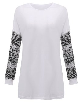 ZANZEA Women's Long Sleeve Casual Lace Loose Cotton Tops - Intl