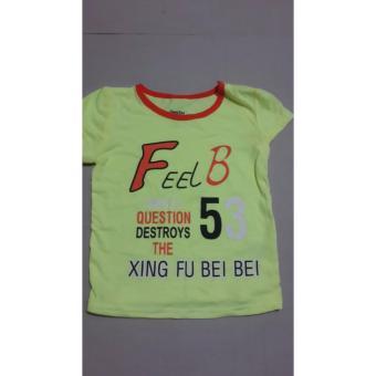 Áo phông nam FEED màu vàng cho bé 1-2 tuổi