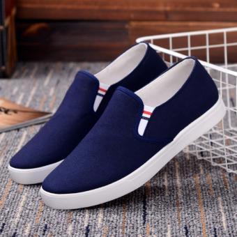 Giày lười vải nam ( xanh )