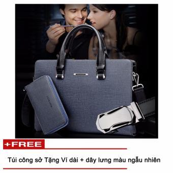 Túi laptop + Ví, dây lưng công sở CB111, thời trang Azado