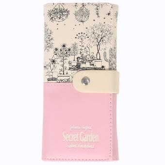 2016 secret garden PU wallet women purse(pink) (Intl)