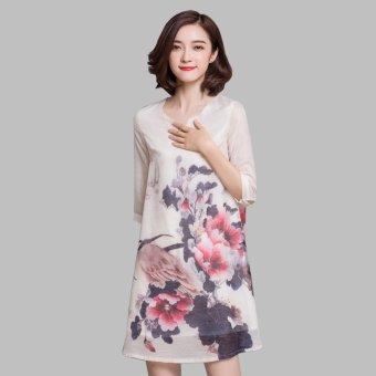 Đầm suông họa tiết hoa beyeu1688 - by8032
