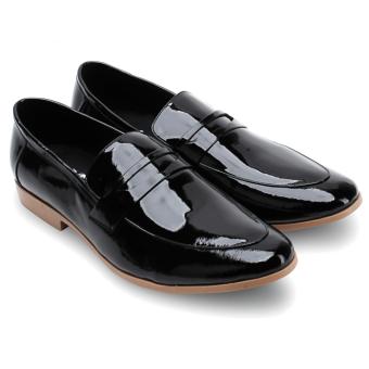 Giày tây nam da bò thật MB1802 (Đen)